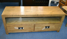 New Solid Oak timber  2 Drawer Low line Entertainment TV Unit Cabinet ETU 1.4M