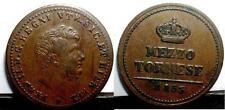 NAPOLI FERDINANDO II 1/2 Tornese 1853 SPL  sig./periz.to