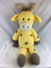 "amigurumi Handmade stuffed Giraffe large 36"" Tall New Very Soft"