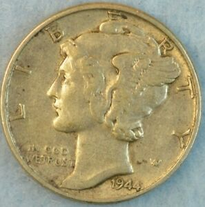CIRCULATED 1944 P Silver Mercury Dime 90% Silver Fast Shipping 437