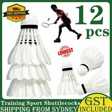 12Pcs Training Sport  Feather Pro Shuttlecocks Birdies Badminton Balls Game AU