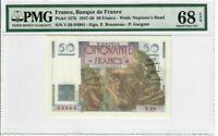 France 50 Francs Banknote 1947 Pick#127b PMG Superb GEM UNC 68 EPQ - Vintage