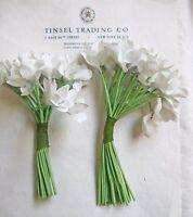 2 Bu Great Antique Vintage White Violet Nosegay's Millinery Hat Flower UNUSED