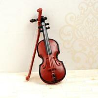 1:12 Dolls House Miniature Music Instrument Violin Model Room Garden Low Price