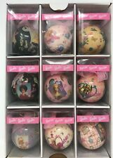 1996 Barbie Ball Ornament Set Of 9