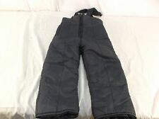 Swiss Alps black insulated ski overalls Children's size 4 used/ preowned 110304