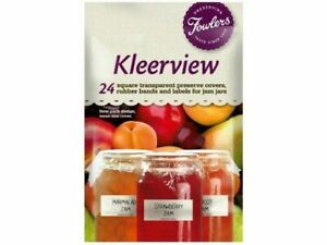 Fowlers Vacola Kleerview Preserving Covers Labels Bands5 X  24 Pack BULK BUY NEW
