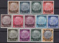 Nazi 3rd Reich Generalgouvernement Hindenburg Overprints 1-13 MNH!!