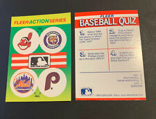 1990 Fleer Baseball Stickers Cleveland Indians Chief Wahoo Tigers Mets Phillies