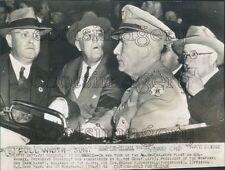 1942 Franklin Roosevelt W Geist of Allis Chalmers Gen B Somervell Press Photo