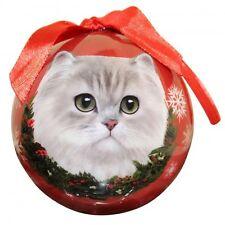 Persian Cat~ Christmas Ball Ornament