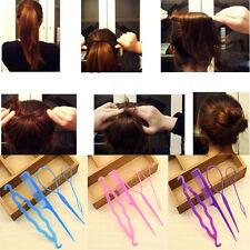 4Pcs Magic Women French Hair Twist Styling Clip Stick Bun Comb Maker Random