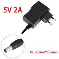 EU-Stecker Netzteil Netzadapter AC100-240V auf/zu DC 5V 2A Adapter 3.5mm*1.35mm