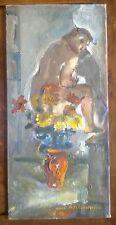 Antoine HEITZMANN 1910-1995 huile MARIA Pot Fleur certif. Strasbourg NEUHOF