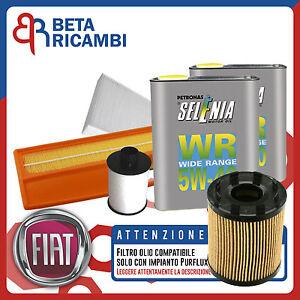 Kit Tagliando Fiat Punto 1.3 Multijet Filtri 4 Olio Selenia 5W40 (IMP. PURFLUX)