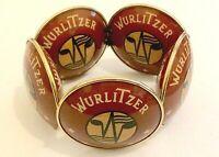 Rare Vintage Wurlitzer Jukebox / 4005 Speaker Advertising Bangle Bracelet
