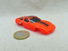 Tyco Circuit Ho Slot Car Rare Carrosserie neuve Corvette Orange Fluorescente
