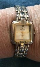 Anne Klein Women's AK Diamond Accented Dial Two-Tone Link Bracelet Watch 6 3/4""