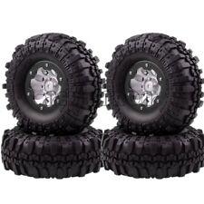 "4 x BLACK RC 1/10 Rock Crawler 1.9"" Super Swamper Rocks Wheel Complete 4035-7035"