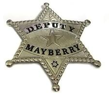 BEST QUALITY DEPUTY PROP Badge MAYBERRY Don Knotts Andy Griffith TV Jim Nabor