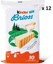 FERRERO KINDER BRIOSS AL LATTE 12  confezioni da 350 gr  cadauna