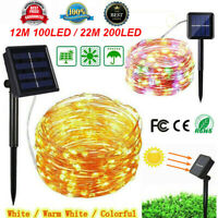 LED Solar String Light Waterproof Copper Wire Fairy Lamp Outdoor Garden Party