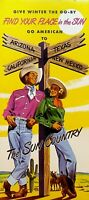 American Airlines 1948 The Sun Country Brochure Find Your Place in the Sun