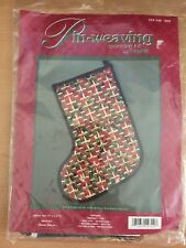 "Pin-Weaving Stocking Kit by Wrights, Christmas stocking 11 x 15"" NEW SEALED"