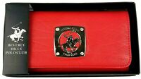 """NEW Beverly Hills Polo Club Womens Red Trifold Wallet 7-1/2""""x3-3/4""""x1"""" Free Ship"""
