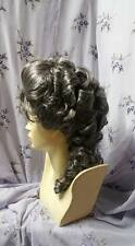 Civil war Victorian wig sass reenactor theater braids  you choose the color.