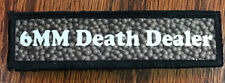 1x4 Airsoft 6mm Death Dealer Morale Patch Military Tactical Army Flag USA Hook