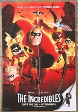 THE INCREDIBLES MOVIE POSTER 2 Sided ORIGINAL FINAL FOLDED 27x40 DISNEY