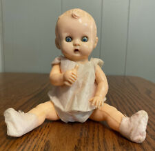 Celluloid Jointed Baby Doll With bottle 8""