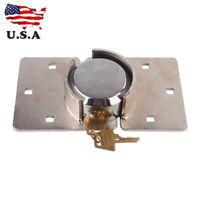 73mm Steel 1/2 Van Garage Shed Door Security Padlock Hasp Set Heavy Duty Lock