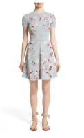 NWT $2950 VALENTINO Floral Jacquard Knit Dress Size XS