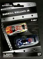 2019 NASCAR Authentics 1:87 Darrell (Bubba) Wallace Jr #43 - 2 pack - Box Ships