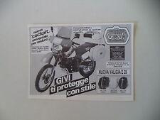 advertising Pubblicità 1984 GIVI e MOTO HONDA XL 500 R