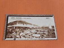 CHROMO PHOTO SUCHARD 1930 COLONIES INDOCHINE COCHINCHINE LONG-XUYEN QUAIS