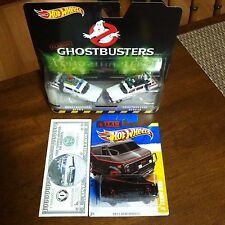 Hot Wheels Ecto-1 Ecto-1A A-Team Lot Retro Classic RR + Ghostbusters 1 Mil Bill