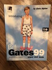 1998 Bill Gates 99 Paper Doll Book Microsoft Spoof By Chris Alpine Unused