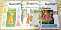 LOT 3 NEW SIMPLICITY SEWING PATTERNS GIRLS SZ 8-16 JUMPER DAISY KINGDOM DRESS