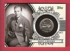 Bing Crosby 1977 NICKEL RELIC CARD TOPPS AMERICAN PIE #d20/25 WHITE CHRISTMAS