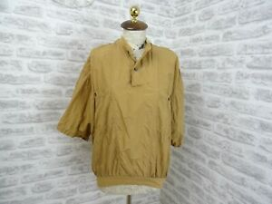 vintage  mans or unisex silk shirt brown ANGELO LITRICO C&A  size M  T493