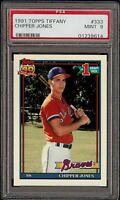 1991 Topps Tiffany #333 Chipper Jones Rookie RC PSA 9 Mint 2018 HOF Set Break !!