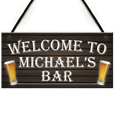 PERSONALISED PUB BEER BAR MAN CAVE FUNNY WALL SIGN ALCOHOL GIFT PRESENT LANDLORD