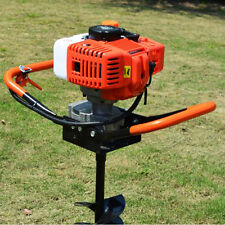 52cc 2-stroke Petrol Earth Auger Post Hole Digger Borer Fence Extension Sale