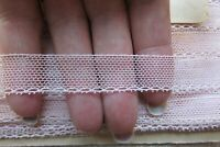 Antique French Palest Pink Lace New Old Stock on original card c1920s