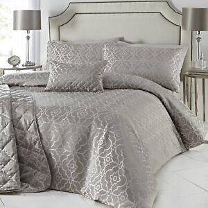 Luxury Jacquard Geometric Duvet Cover Set Single Quilt Cover Bedding Set Stone