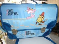 UNIQUE-GREEK-VINTAGESCHOOL-BAG-PINK PANTHER  SOFT USED RARE