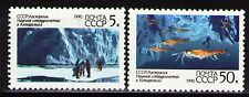 Russia 1990 Sc5902-3  Mi6095-96  2v  mnh  Cooperation in Antarctic Research